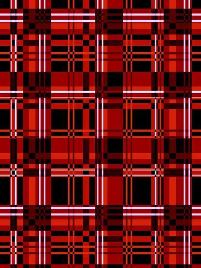 Minimalist Red Plaid Design 06-LightBoxJournal-Giclee Print