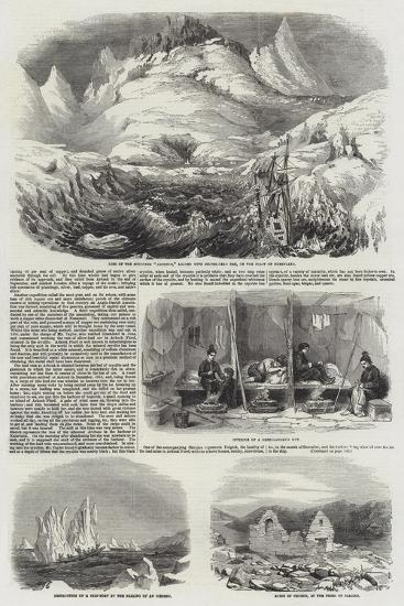 Mining and Mineralogical Exploring Expeditions in Greenland--Giclee Print