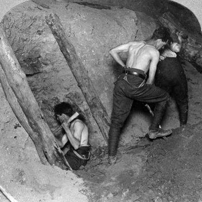 Mining at Messines Ridge, Belgium, World War I, 1914-1918