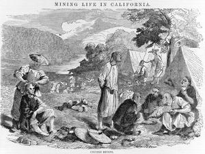 Mining Life in California: Chinese Miners, Pub. 1857