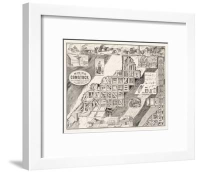 Mining on the Comstock Lode--Framed Giclee Print