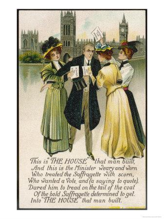 Minister Assailed by Suffragettes Outside the House of Commons--Premium Giclee Print