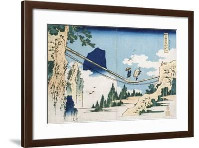 Minister Toru' from the Series 'Poems of China and Japan Mirrored to Life'-Katsushika Hokusai-Framed Giclee Print