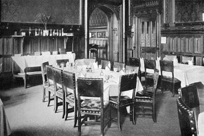 Ministers' Table, House of Commons Dining Room, Palace of Westminster, London, C1905--Giclee Print