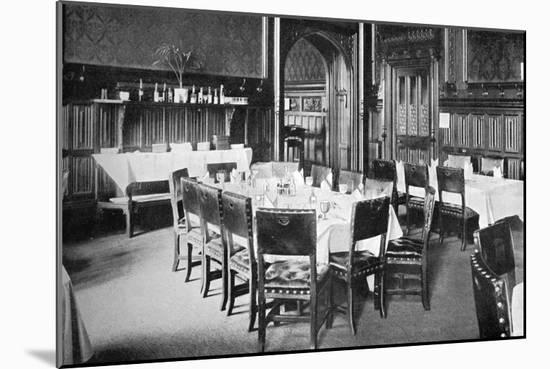 Ministers' Table, House of Commons Dining Room, Palace of Westminster, London, C1905--Mounted Giclee Print