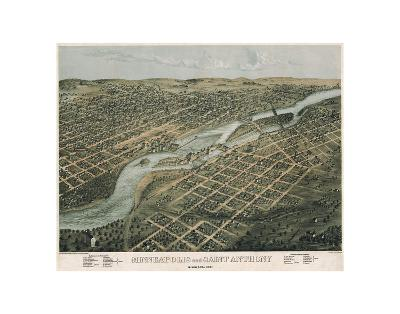Minneapolis and Saint Anthony, Minnesota, 1867-A^ Ruger-Art Print