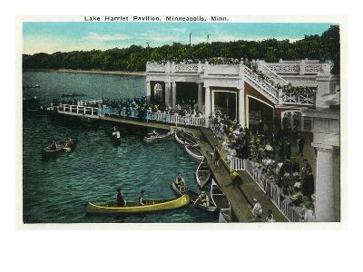 Minneapolis, Minnesota - View of Lake Harriet Pavilion-Lantern Press-Art Print