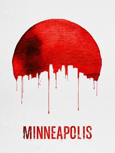 Minneapolis Skyline Red--Art Print