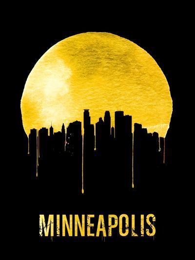 Minneapolis Skyline Yellow--Art Print