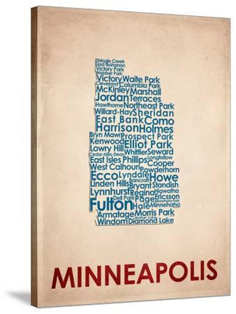 Minneapolis Stretched Canvas Print by | Art com