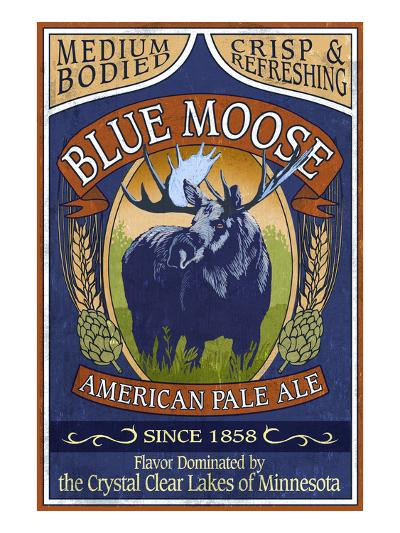 Minnesota - Blue Moose Pale Ale-Lantern Press-Art Print