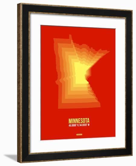 Minnesota Radiant Map 2-NaxArt-Framed Art Print
