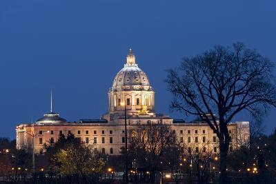 Minnesota State Capitol at Night-jrferrermn-Photographic Print