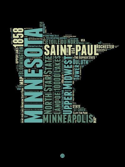 Minnesota Word Cloud 1-NaxArt-Art Print
