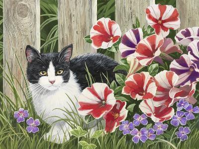 Minnie in the Petunias-William Vanderdasson-Giclee Print