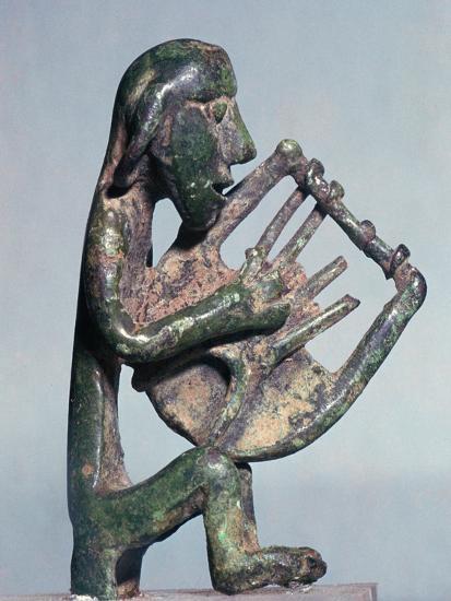 Minoan bronze of a harpist-Unknown-Giclee Print