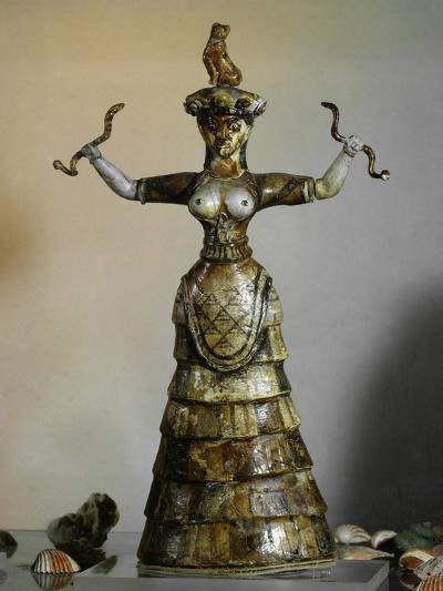 Minoan, Earthenware Figure of Snake Goddess, 1700-1400 BC--Giclee Print