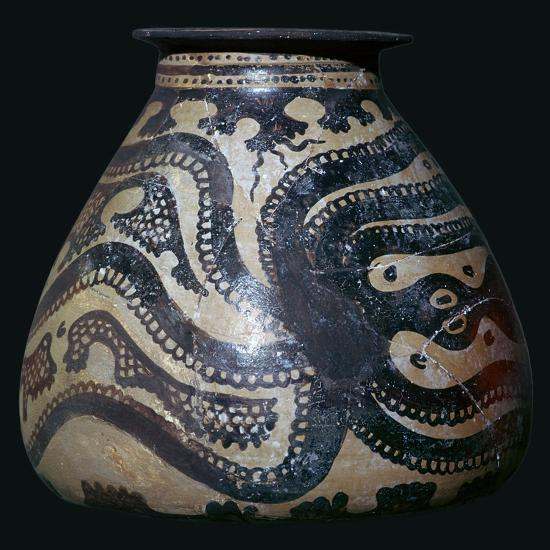 Minoan pot with an octopus motif-Unknown-Giclee Print
