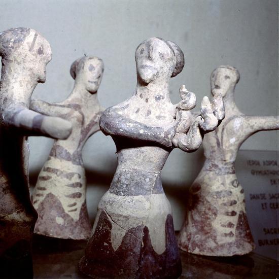 Minoan 'Sacred Dance', Palaikastro, Eastern Crete, Post-Palatial Period, c1400BC- c1100 BC-Unknown-Giclee Print
