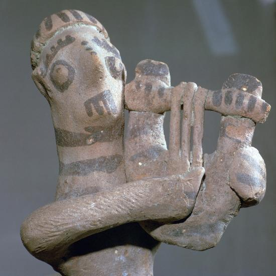 Minoan terracotta figure of a lyre-player, 8th century BC-Unknown-Giclee Print