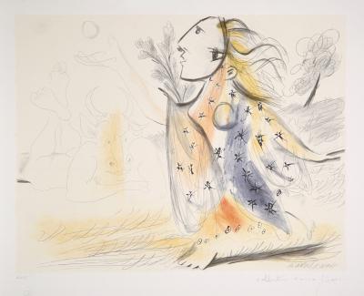 Minotaure et Femme, 18-C-Pablo Picasso-Premium Edition