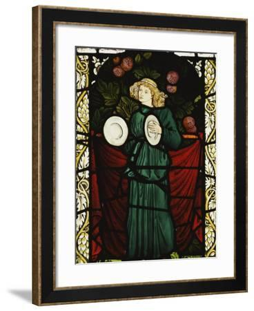 Minstrel Angel with Cymbals, for the East Window of St. John's Church, Dalton Yorkshire-William Morris-Framed Giclee Print