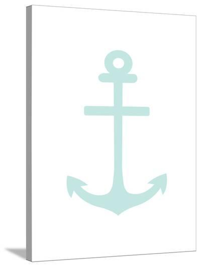 Mint Anchor-Jetty Printables-Stretched Canvas Print