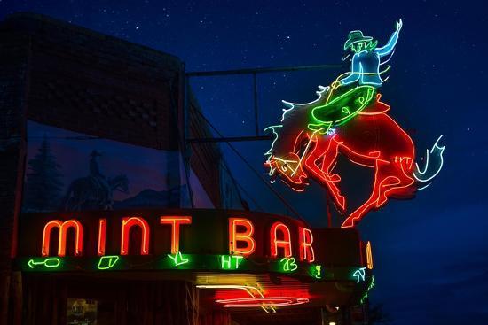 Mint Bar Neon Sheridan Wyoming-Steve Gadomski-Photographic Print