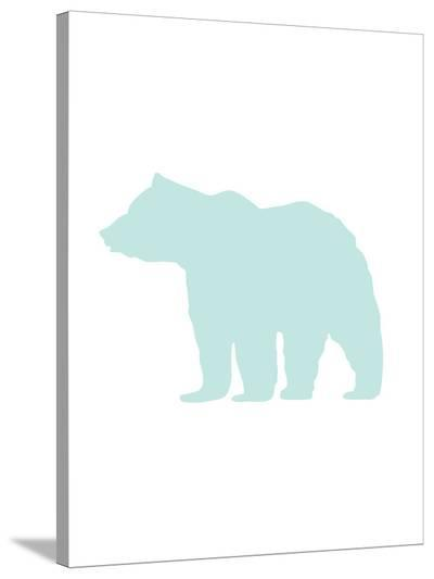 Mint Bear-Jetty Printables-Stretched Canvas Print