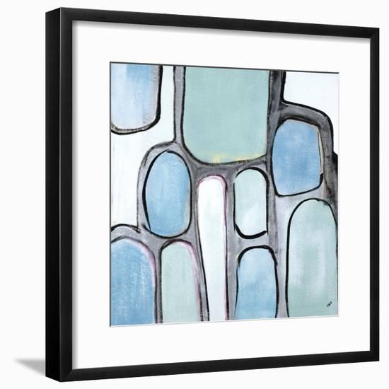 Mint Honey Comb-Brent Abe-Framed Giclee Print