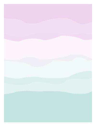 Mint Lavender Abstract-Jetty Printables-Art Print