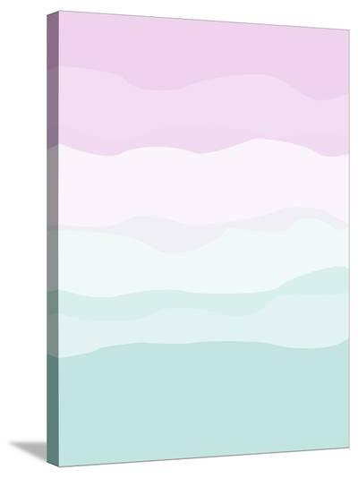 Mint Lavender Abstract-Jetty Printables-Stretched Canvas Print