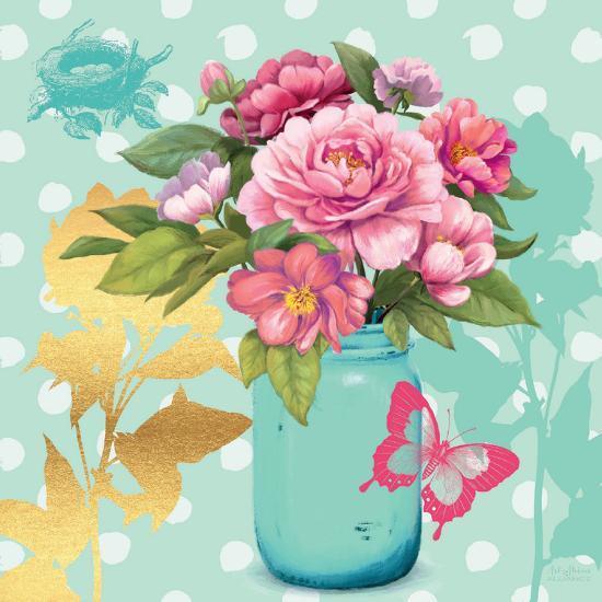 Mint Mason Jar Bouquet--Premium Giclee Print