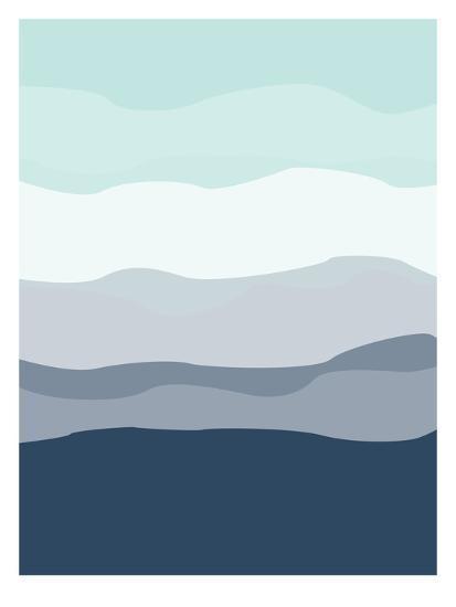Mint Navy Abstract-Jetty Printables-Art Print