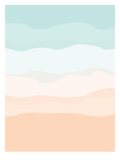 Mint Peach Abstract-Jetty Printables-Art Print