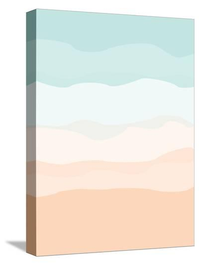 Mint Peach Abstract-Jetty Printables-Stretched Canvas Print