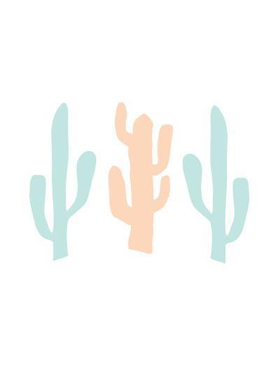 Mint Peach Cactus-Jetty Printables-Art Print