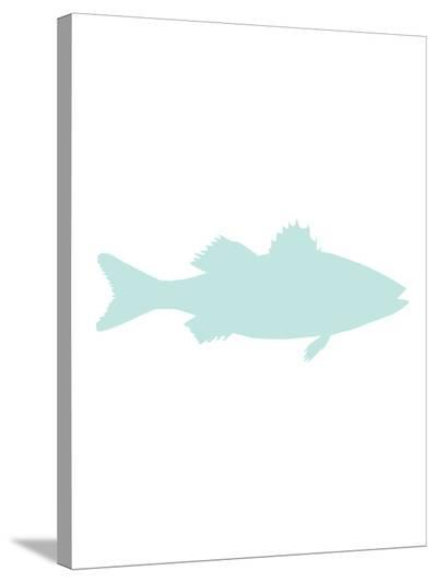 Mint Sea Bass-Jetty Printables-Stretched Canvas Print