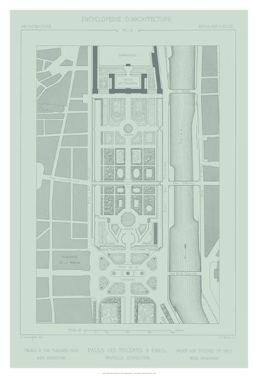 Mint & Slate Garden Plan II-Vision Studio-Giclee Print