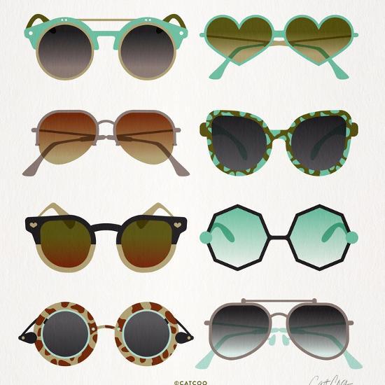 Mint Tan Sunglasses-Cat Coquillette-Premium Giclee Print