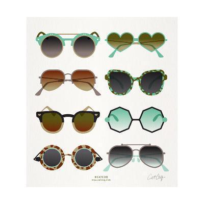 Mint Tan Sunglasses-Cat Coquillette-Giclee Print