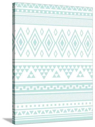 Mint Tribal-Jetty Printables-Stretched Canvas Print