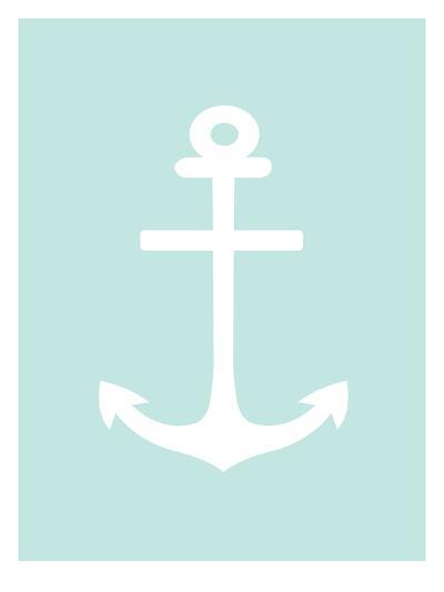Mint White Anchor-Jetty Printables-Art Print