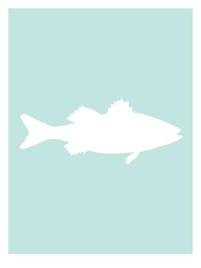 Mint White Sea Bass-Jetty Printables-Art Print