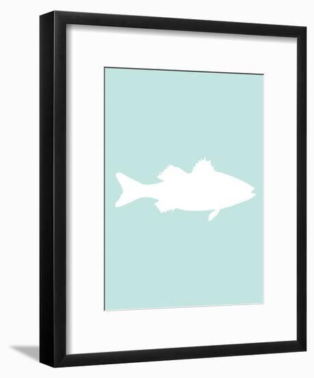 Mint White Sea Bass-Jetty Printables-Framed Art Print