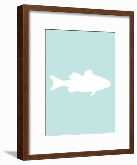 Mint White Sea Bass-Jetty Printables-Framed Art Print