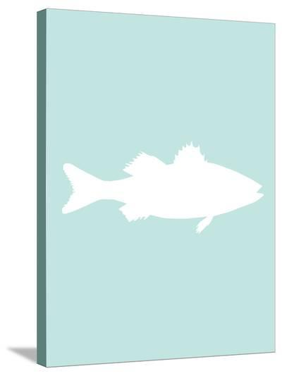 Mint White Sea Bass-Jetty Printables-Stretched Canvas Print