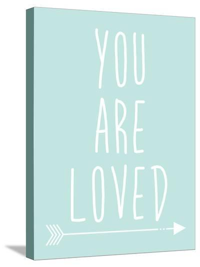 Mint You Are Loved-Jetty Printables-Stretched Canvas Print