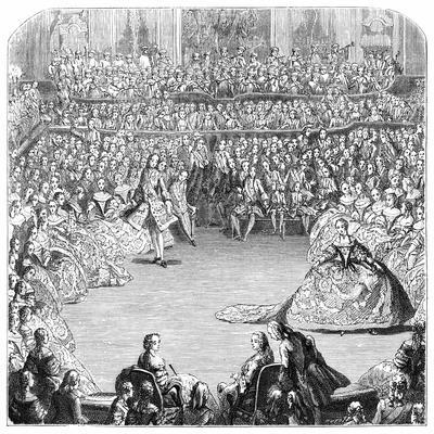 Minuet Dancer and the King, 1754-Charles Nicolas Cochin-Giclee Print