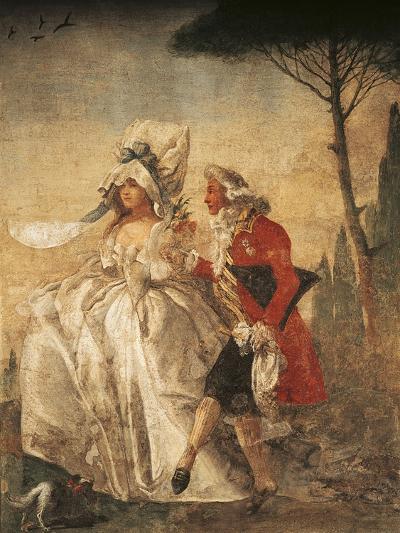 Minuet in Villa-Giandomenico Tiepolo-Giclee Print